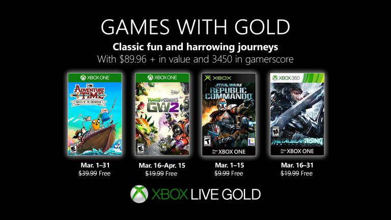 Games with Gold: Nun ist es offiziell! Das sind die Spiele für den Monat März