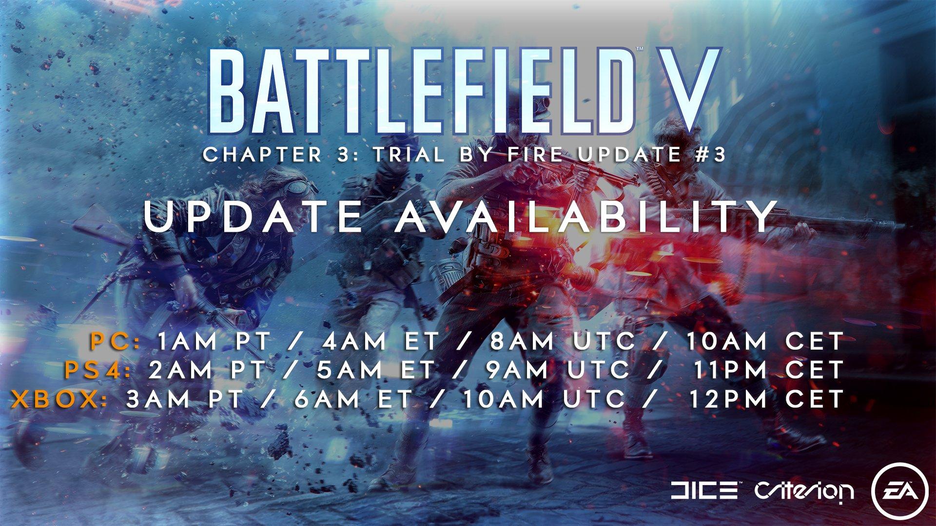 Battlefield V: Release am morgigen Dienstag! Die Patch-Notes
