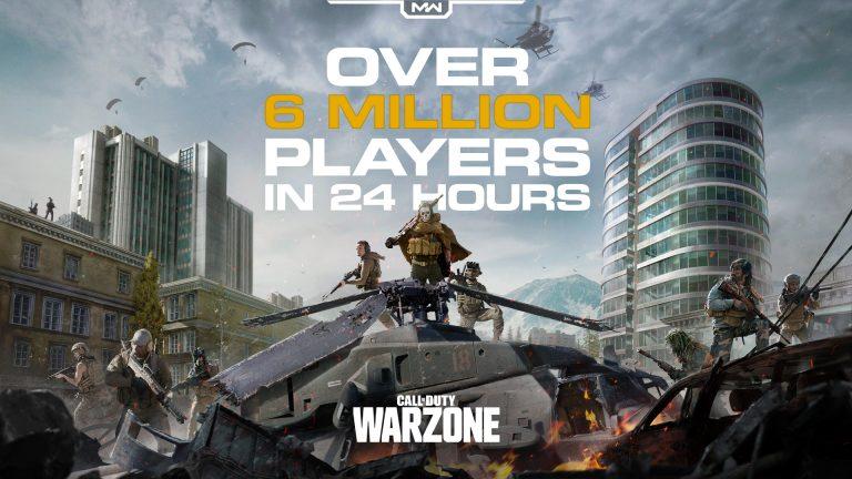"""Call of Duty: Der Battle Royale-Modus """"Warzone"""" erreichte über 6 Millionen Spieler in den ersten 24 Stunden"""