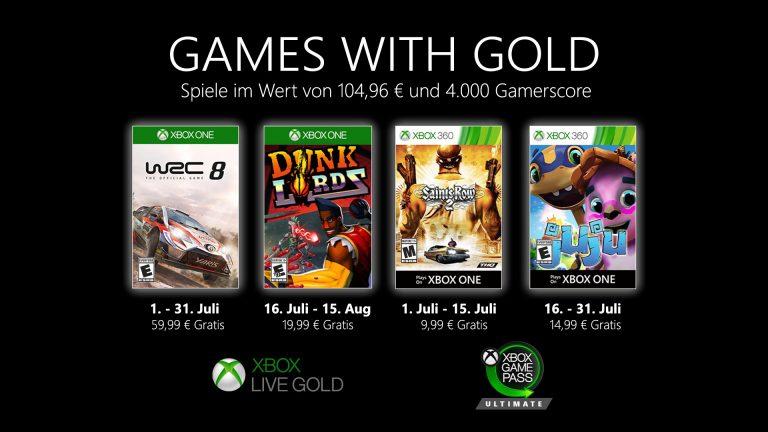 Games with Gold: Diese Spiele gibt es im Juli gratis