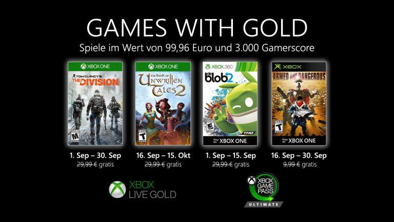 Games with Gold: Diese Titel gibt es im Monat September gratis
