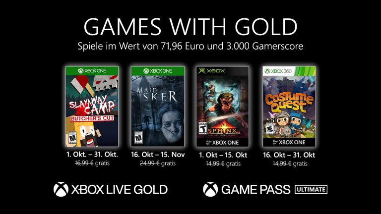Games with Gold: Neue kostenlose Spiele für Gold-Mitglieder im Oktober