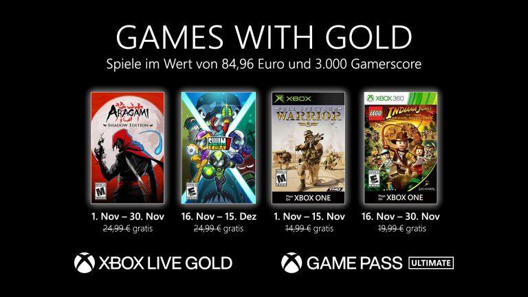 Games with Gold: Diese Spiele gibt es im November gratis