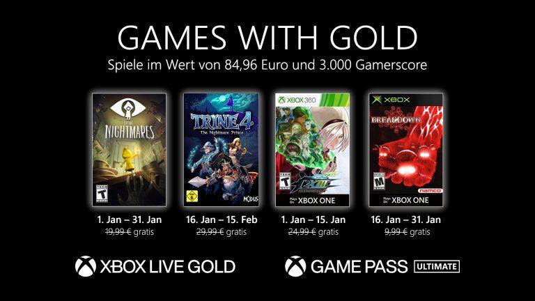 Games with Gold: Diese Spiele gibt es im Januar gratis